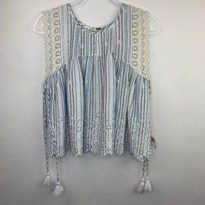 FREE PEOPLE • Savannah Tie Top • Size S • NWOT